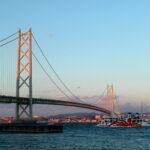 明石海峡大橋とたこフェリー